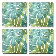 Cala Home Podkładki korkowe małe, pod kubek C11650 Tropical green