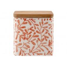 Ladelle Leaves Burnt Orange wzór 2 pojemnik do przechowywania żywności L61420
