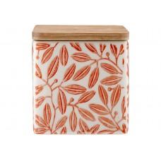 Ladelle Leaves Burnt Orange wzór 1 pojemnik do przechowywania żywności L61420
