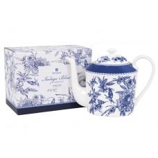 """Ashdene Dzbanek porcelanowy z zaparzaczem do herbaty 17072 """"indigo blue"""""""