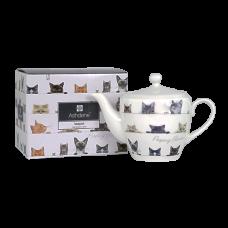 """Ashdene Dzbanek porcelanowy do herbaty mały 16936 """"ciekawskie kotki"""""""
