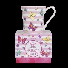 """Ashdene Kubek porcelanowy 16958 """"madame butterfly stripe"""""""