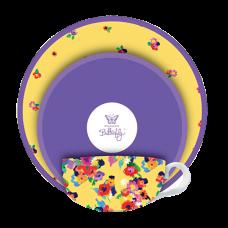 """Ashdene Filiżanki porcelanowe do herbaty z talerzykiem koktajlowym 16312 """"retro floral"""""""