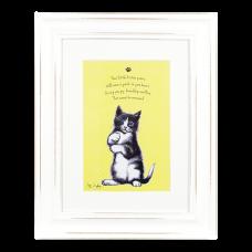 """Ashdene Obrazek w ramce 30005 """"psotne kotki żółty"""""""