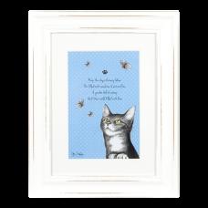 "Ashdene Obrazek w ramce 30006 ""psotne kotki niebieski"""