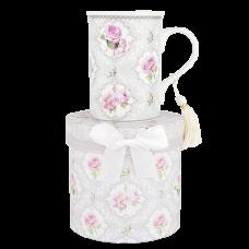 "Ashdene Kubek porcelanowy 16396 ""pink rose grey"""
