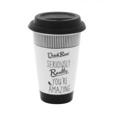 "Dutch Rose Kubek porcelanowy coffee to go 174269 ""really"""